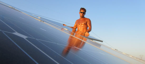 Montage von Photovoltaikkraftwerken